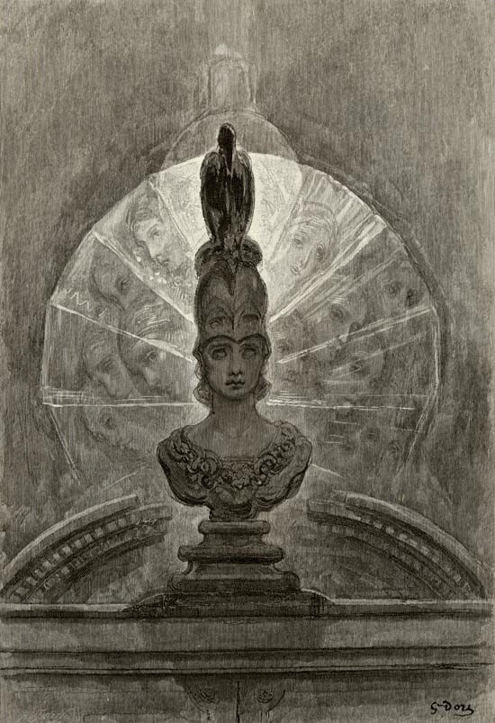 The raven - Perched Upon a Bust of Pallas