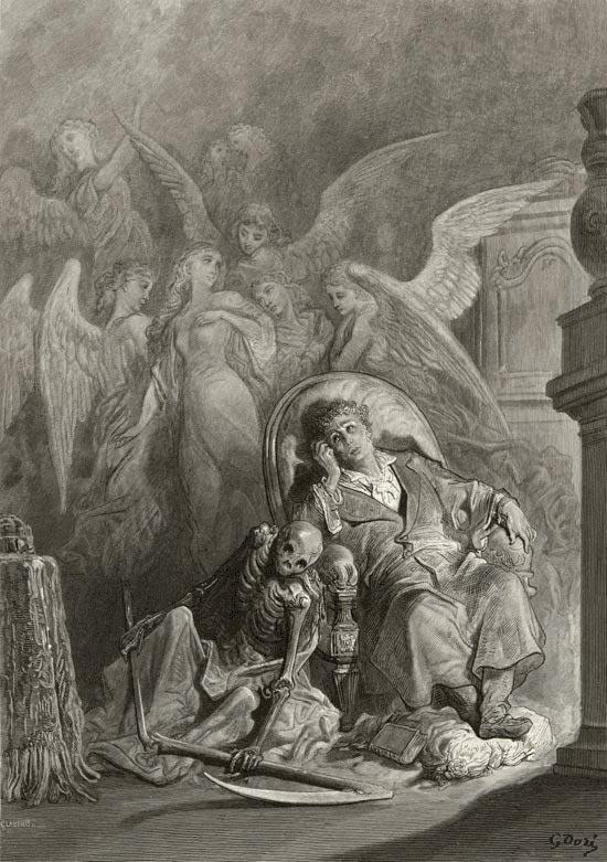 The raven - Vainly I had Sought to Borrow