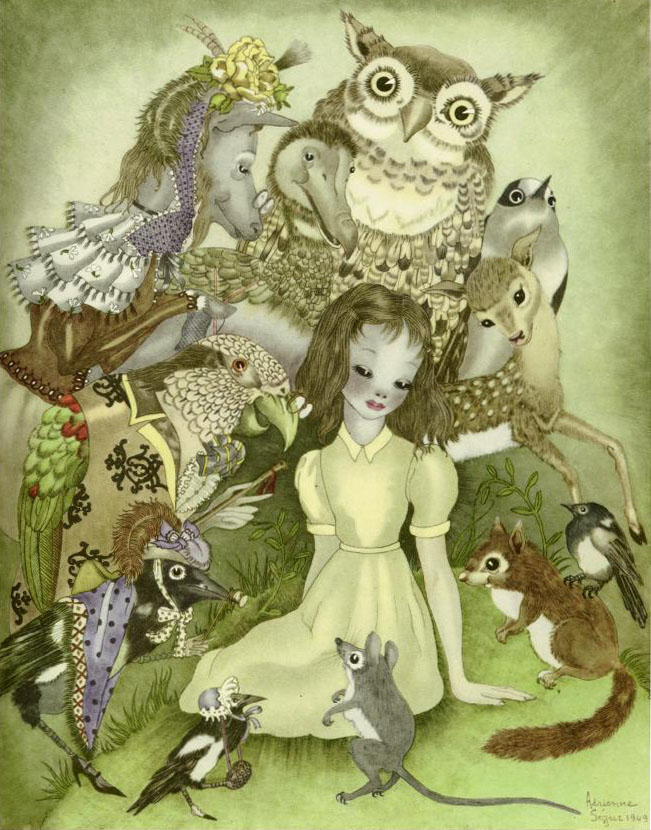 Alice and the creatures of Wonderland