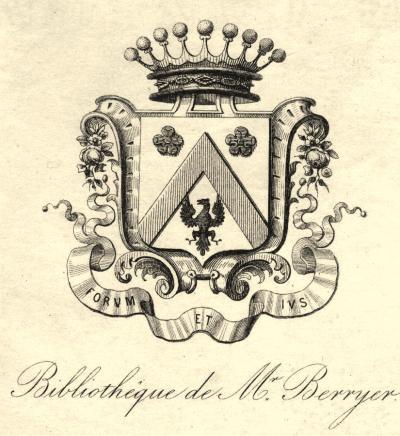 Ex-libris con escudo heráldico